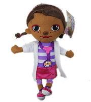 New 2014 Hot Sale Doc Mcstuffins Doll Toys Kids Plush Toys Free Shipping Christmas Gift Cartoon Dolls Kids Girls Juguetes KT070