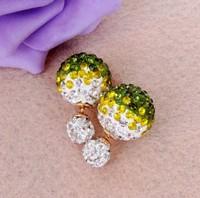 Super flash double pearl stud earring for women free shipping HOTstud earrings