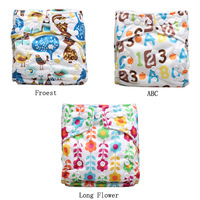 Christmas New Designs Baby Cloth Diapers 100pcs+100pcs Microfiber inserts +3 free Baby Cotton bibs