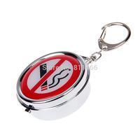 key chain Practical  Ashtray Fashion Popular Creative zine alloy Ashtray mini size 5 *5 *2.2 CM-C200085