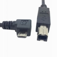 [FREE SHIPPING/EPACKET!] Right Angled 90 Degree Micro USB OTG to Standard B Type Printer Scanner Hard Disk Cable 30cm