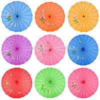 Japanese Chinese Bamboo Dance Umbrella Art Deco Parasol Art Umbrella rose red Free Shipping