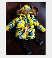 children's clothing wholesale manufacturers selling cotton padded jacket boy children cotton clip with cap