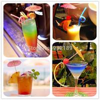 50pcs Paper Cocktail Parasols Umbrellas Drinks Picks Wedding Luau Party Sticks More Colors