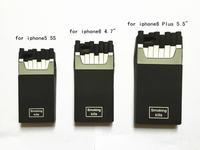MOQ 1pcs Smoking kills CC cigarette silicone soft cover case for iphone 6 & 6 plus 5 5s,with CC LOGO black soft cases