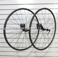 FULLFUN 20mm 20.5mm Tubular Carbon Wheelset 700c Basalt Brakes Road Bike Novatec 271/372 UD Matte Aero Spokes 20/24 Holes