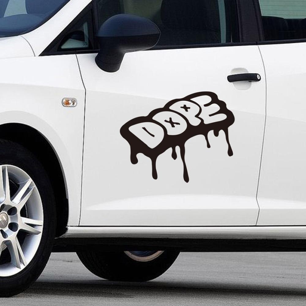 Cool Drip Dope Graffiti Style Vinyl Cars Trucks Race Car Decals Stickers(China (Mainland))