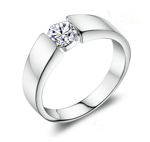 Vintage Wedding Rings For Men Or Women Bague Cubic Zirconia Silver Ring Jewel