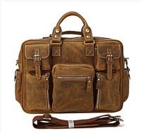 luxury classic 100% genuine leather men messenger bags laptop men's Briefcase travel bags 4 colors shoulder men cross body bag