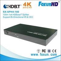 support IR &RS 232  with 3D&4k2k  100M 1X8  HDBaseT splitter