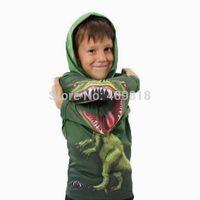 Kids Boy Cotton Clothing Dino Dinosaur Hoodies Children Novelty Shirt Boys Fashion Outwear for Spring Autumn