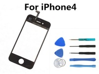 Front Glass Lens + Touch Screen Digitizer For iPhone4 4G Replacement for LCD Screen Case + Opening Tools