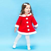 children red Christmas dress girls long sleeve dress Snowflake's Christmas Hoodies dress free shipping
