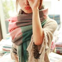 2015 Winter Scarf Fashion Wool Spain Desigual Scarf Women Plaid Thick Scarves Shawl for Women bufandas brand scarf