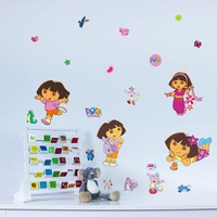 Free Shipping Dora the Explorer Wall Stickers for Kids Rooms Bathroom Home Decor Quotes Removable Poster DIY Adesivo de Parede