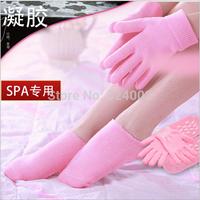 skin care Spa Gel Gloves and Socks Whiten Skin Moisturizing Treatment hand & feet care 2pairs/LOT( (1pair glove+1pair socks)