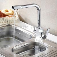 Kitchen Sink Faucet Tri-flow Washing & Drinking Water Mixer Tap 0510
