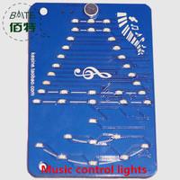 LED lighting control music lanterns DIY electronic kits voice audio volume indicator LED lights melody