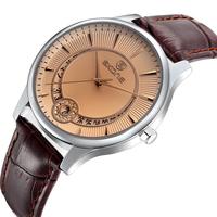 Men New Fashion Casual Watch Skone Luxury Brand Leather Strap Quartz Watch With Date Man Dress Wristwatch Relogio Rolojes 9242