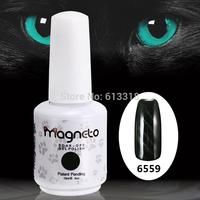 12 Pcs Uv color gel nail soak off Uv gel Cats eyes gel  Long lasting Magnetic  gel   one piece of Magneto stick free