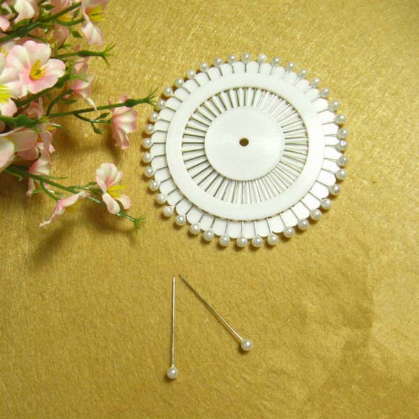 480pcs White Decor Round Head Dressmaking Wedding Party Faux Pearl Decorating Sewing Pins Craft Free Shipping(China (Mainland))