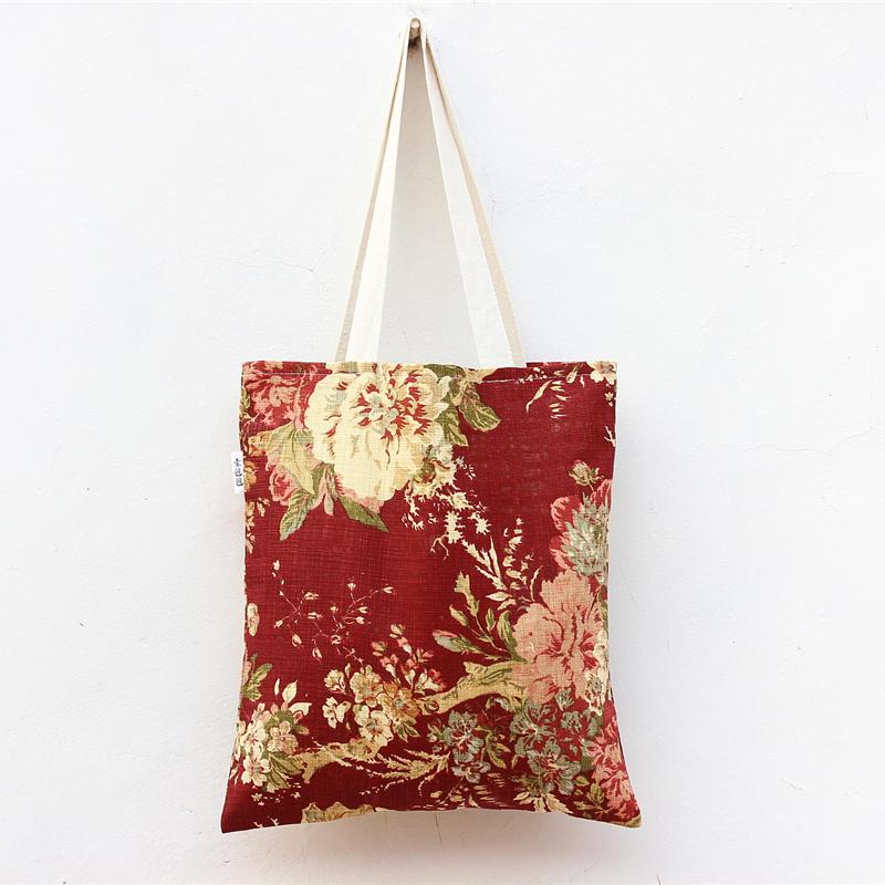 Peony Peony pattern original cloth bag schoolbag casual shoulder bag shopping bags woman(China (Mainland))
