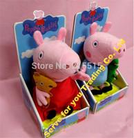 30CM 2 pcs/set hot sale Peppa Pig George Pig Plush Toy Peppa Pig Stuffed Animals Dolls baby toys pepa Brinquedos