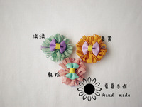 Free shipping Handmade hair accessory child hair accessory hairpin hair accessory fresh small hairpin side-knotted clip