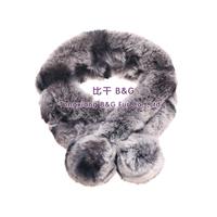 Genuine Rex Rabbit Fur Scarf Winter Scarves Soft Warm Real Fur Scarves BG30469