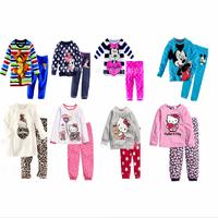 100% Cotton children's winter clothing sets kids clothes Sets boys girls hello kitty T shirt+pant 2 pcs set long sleeve pajamas