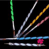 New Pro 5 pcs Nail Art Crystal Pen Set Nail Carved Crystal Pen Spiral 1Pcs Dotting Pen Set Nail Pen Tools