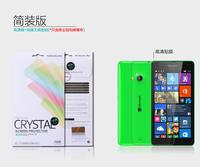 MOQ 2PC Original Nillkin LCD CRYSTAL Anti - fingerprint Screen protector film For NOKIA Lumia 535 Microsoft 1090 Free ship