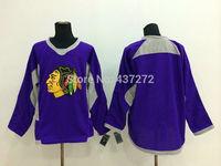 Stitched Free Shipping men's Hockey Jersey Chicago Blackhawks blank Hockey Jersey Embroidery Logos Jersey