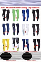 Free shipping!2014 Winter thermal fleece Cycling Leg warmers perneras Ciclismo MTB Accessories Size:S-XXL 12 different styles