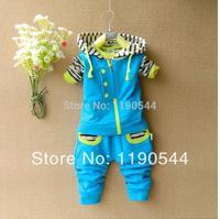 2014 New Spring Kids Clothes Sets Striped Children Hoodies + Vest + Kids Pants 3pieces Outfits Boy Clothing Set