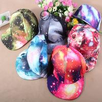 New Arrive 2015 Fashion Galaxy Hats hip-hop cap snapback hats for men and woman flat along caps