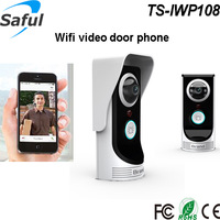 Free shipping 2015 the newest wifi video door phone ir intercom doorbell with function of motion detection and door unlocking