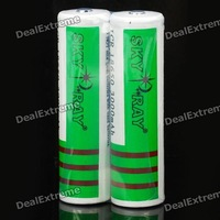 2 Pcs Sky Ray IRC 18650 3000mAh 3.7V Li-ion Rechargeable Protected Batteries