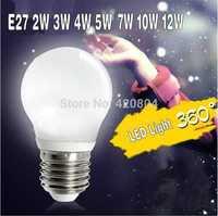 10PCS/lot 2015 led bulb lamp High brightness E27 3W 4W 5W 7W 10W 12W 3528SMD Cold white/warm white AC110- 260V Free shipping