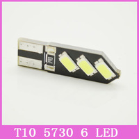 2x T10 LED Car Light Bright Double No Error 12V 194 168 W5W Canbus 6 SMD 5730 white LED Interior Bulb Lights Parking Width Lamps