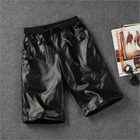 BA-13 Leather shorts men D-dragon Korean Harajuku Casual Beach shorts PU sport swimwear men Billabong shorts basketball