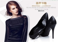The new Europe and the United States and comfortable leather sexy pointed women's shoes fashion high heels