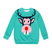 Nadanbao 2014 New Arrival Christmas theme moose Women Hoodies high quality 3D Print Pullovers Sweatshirts Molten