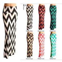 New 2014 Autumn Summer Women Ankle-Length Long Skirts Fashion Geometric Print Ruffles Fishtail Skirts Casual ladies Clothing