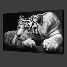 2015 pintura al óleo Vender Cuadros Quadros caliente! Pintura Mural Animal Y Tiger Paint On Canvas Prints Inicio decorativo bellas artes(China (Mainland))