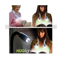 Free shipping NEW LED Flexible Handsfree Hug Neck Reading Book Light Lamp Torch Huglight