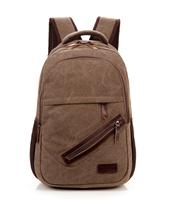 New fashion casual men's backpacks vintage canvas bolsa mochila schoolbag laptop bag travel bags free shipping