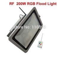 110v 220v rf remote control rgb 200w led flood light waterproof color changing led spotlight outdoor lighting christmas lights
