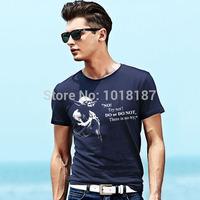Summer 2014 New Fashion High Quality Cotton Star War T Shirt Large Yoda t shirt Men Free Shipping