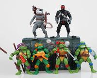 Retail!New 2014Hot Sale Kids Teenage Mutant Ninja Turtles Model Toys 6pc/Lot Boys Cartoon Doll Education Electric Juguetes KT074